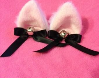 White Kitty ears