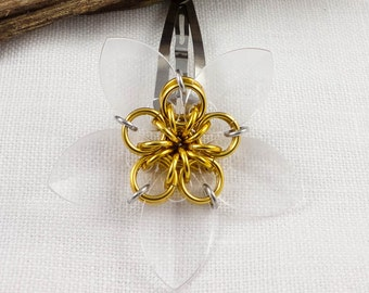 Transparent Daisy Hairclip