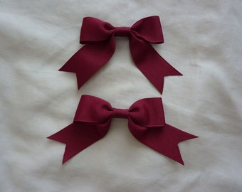 Single Bow Ribbon Clip (2 set)