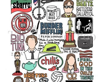 The Office TV Collage Print (11x14) *Great gift for guys!* - FREE SHIPPING
