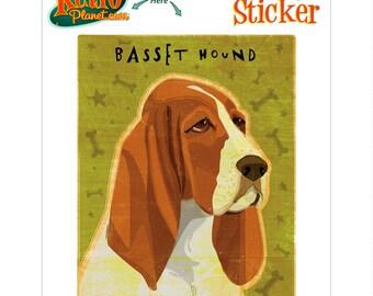 Basset Hound Dog Vinyl Sticker - #63700