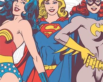 DC Comics - Girl Power - Wonder Woman - Supergirl - Batwoman - Poster