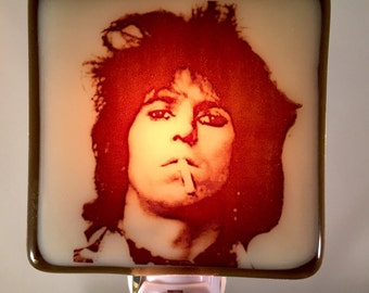 Keith Richards Night Light Fused Glass