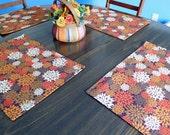 Fall Mum place mats, Autumn Mum place mats