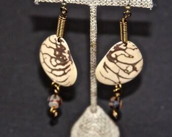 Natural Tagua Earrings