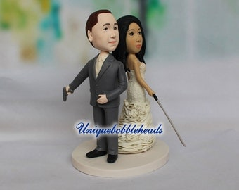 zombie wedding cake topper, , Bride and groom cake topper, personalized cake topper, Mr and Mrs cake topper, custom cake topper