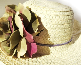 Woman sun hat -Sun Hat - Summer-Women's Wide Brim - Daisy- Beach- Pool hat