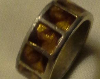Vintage Gold Enamel Ring
