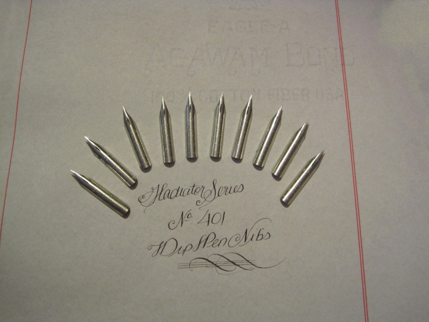 Lot Of 10 Dip Pen Nibs For Calligraphy Or Spencerian Writing