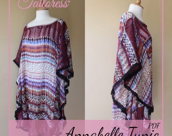 Annabelle Tunic PDF Sewing Pattern - Sizes 4-18