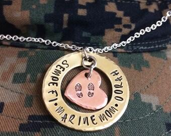 Semper Fi•Marine Mom•Oorah Mom Necklace