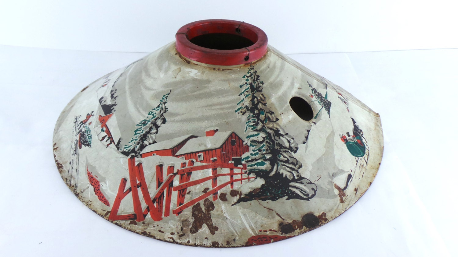 Vintage 1950's Coloramic Christmas Tree Stand 398 1950s