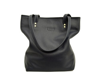 Blue Leather bag, blue Tote Bag, blue purse,blue Hand bag,MARION BLUE