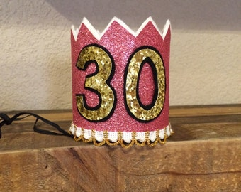 Birthday Crown, customized colors and numbers!