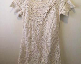 Vintage battanburg lace dress boho dream gypsy traveller hippie chic deadstock Newport News size 12/M love!