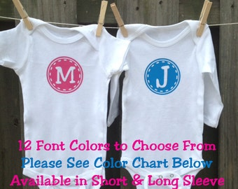 Monogram Baby Clothes - Personalized Baby Clothes - Onesies - Bodysuit -  Baby Shower Gift - Baby Gift - Baby Clothes - Baby Boy - Baby Girl