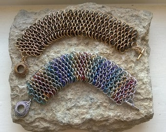 Dragonscale bracelet (wide) - your choice of colours, made to order