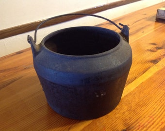 Vintage Cast Iron Melting Pot #2