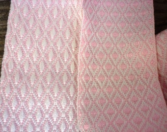 Vintage Austrian Extra Wide Woven Pink Ribbon / 2m, 2yds plus / New Old Stock /Home Sewing, Purses, Clothing, Jewelry Making, Reenactment