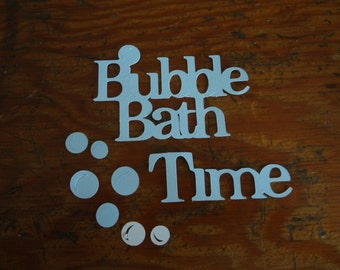 Scrapbooking ~ Bath Time with bubbles