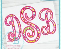 Perfectly Posh Applique Alphabet - This design is to be used on an embroidery machine. Instant Download 4x4,5x7,9x9