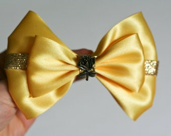 Bell of the Ball ~ Yellow and Gold Hair Bow