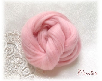 Extrafine Merino WOOL Dyed TOPS  19 Microns color Powder per 25 gr felting spinning teddy bear making supplies