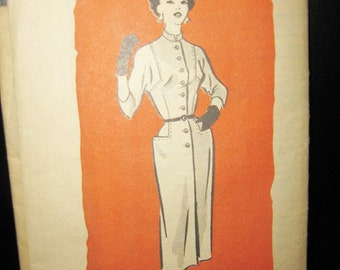 Anne Adams Mail Order Pattern #4560, Size 14 Slim Dress, 1940's Or 1950's Style, Unprinted Pattern,  Uncut, Vintage Sewing Pattern,