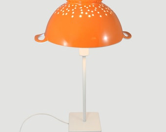 Filter my Light (Orange) is a stylish upcycled kitchen table lamp