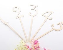 Wooden Table Numbers, Custom table Number, Bridal Party Table Decor-1pc
