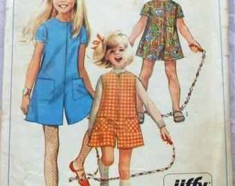 Sz 6 8 10 12 SIMPLICITY 7406 Girls Shorts Romper Jumpsuit Shortalls JIFFY EASY  Shorts Sewing Pattern
