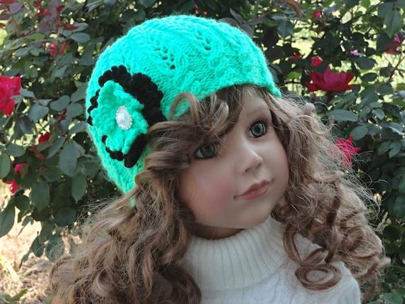 Knitting PATTERN Girls Beanie Women Hat Accessories Children Hat ... 57fdf09c5a
