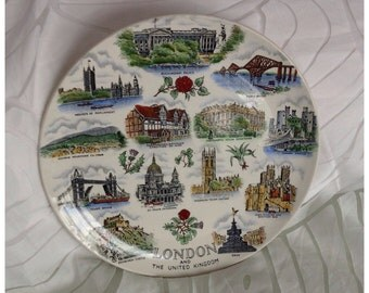 SALE! Vintage Collectable Plate, 'London & The United Kingdom'. Made in England by Adams.