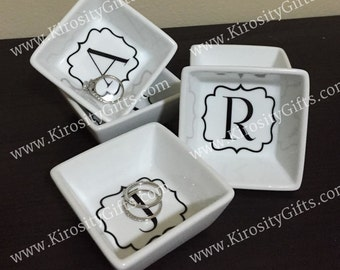 Personalized Square Jewelry Dish