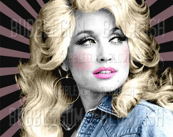 Dolly Parton sunray art   Digital art Download