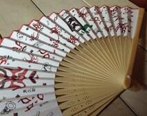 Kabuki Hand Held Fan /Paper Folding Fan/ Japanese Fan