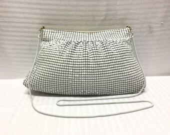 White Metal Mesh purse, Bag, Metal Mesh, Purse, free shipping,Free shipping in the US