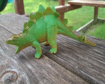 Child's 1986 Plastic Toy Stegosaurus