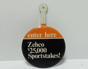 Free Shipping!! Zebco Sportstakes Button