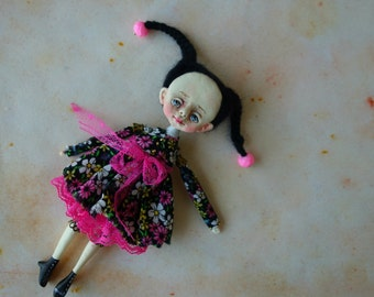 OOAK Art doll-brooch