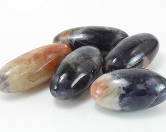 Iolite and Sunstone Lingam, O-243