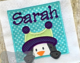 Penguin Applique - Penguin Embroidery - Winter Embroidery - Holiday Embroidery - Winter Applique - Christmas Applique - Applique Design