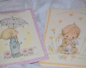 Vintage unique cards with old kids/children illustrations on them, sweet cards