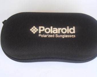 Vintage Polaroid Sunglasses Case /Luxottica Black Storage Case/Glasses Case Polaroid Men Women /1980s
