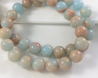 3 Full Strands 6mm Aqua Terra Jasper Beads,Round Jasper Beads