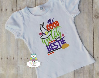 The Good Witch is my Bestie Shirt or Bodysuit, Girl Trick or Treat Shirt, Girl Halloween Shirt, Halloween Clothing, Girl Halloween,Halloween