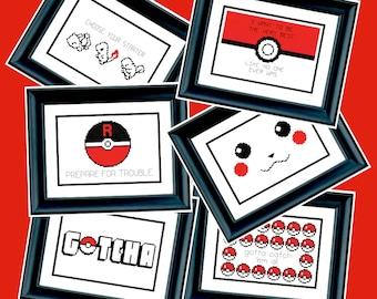 6 Patterns - Pokémon - PDF Cross-Stitch Pattern