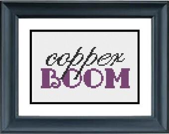 Copper BOOM! - Gilmore Girls - PDF Cross-Stitch Pattern