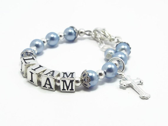 baptism gift for boy baby boy bracelet baby jewelry