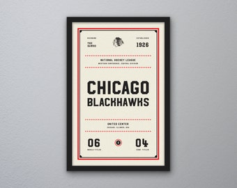 "Chicago Blackhawks ""Day & Night"" Print"